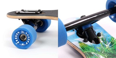 Longboard mit Drop Through Achsmontage
