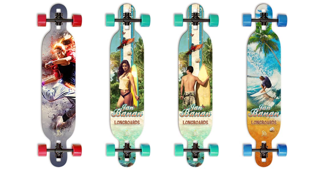 Jan Banan Longboards mit Drop Through Konstruktion
