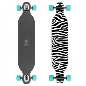 Longboard Cruiser Zebra Design Jan Banan
