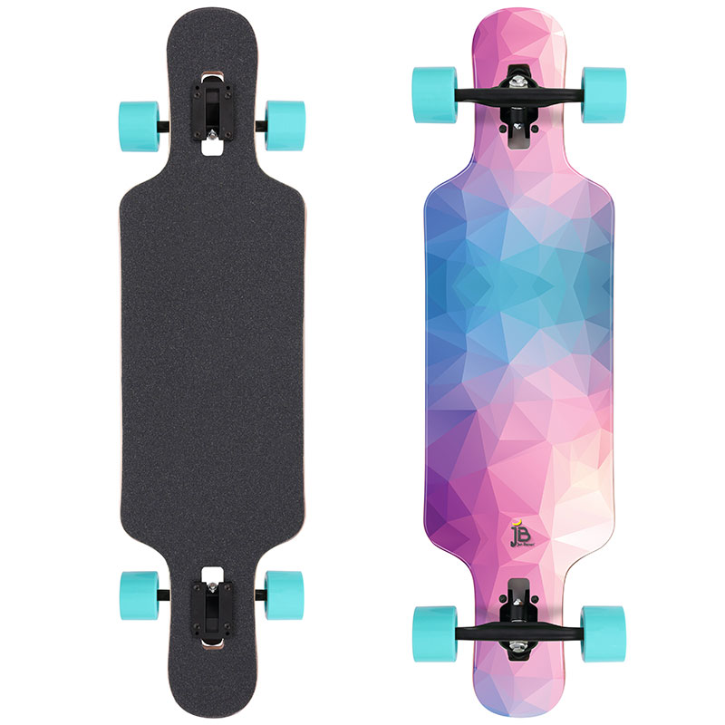 longboard pink geometrics rollen t rkis jan banan longboards. Black Bedroom Furniture Sets. Home Design Ideas