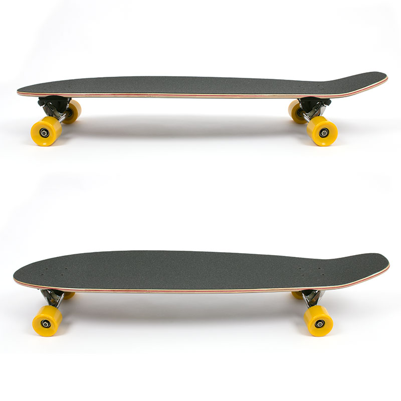 Pintail Longboard mit Kicktail
