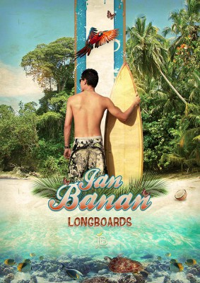 Surfer Man - Jan Banan Design