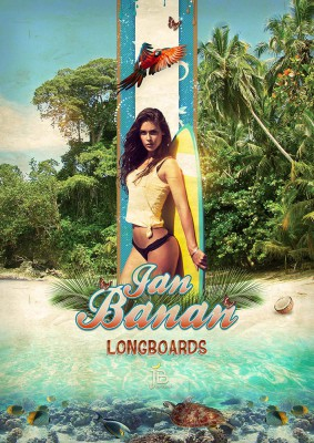 Surfer Woman - Jan Banan Design